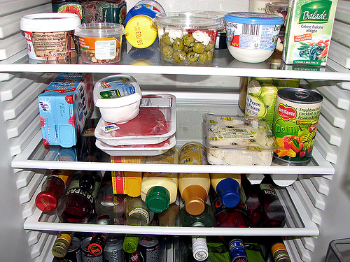 Picture of the inside of a fridge